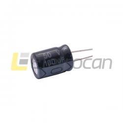 CAPACITOR ELETROLITICO 100 UF/50 V - RADIAL - (105G)