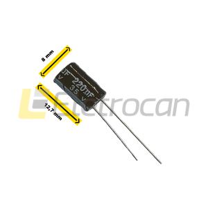 Capacitor Eletrolítico 220UF 35V