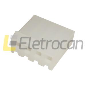 PCF3-04-CONECTOR FÊMEA 4 VIAS, PASSO 3,96MM