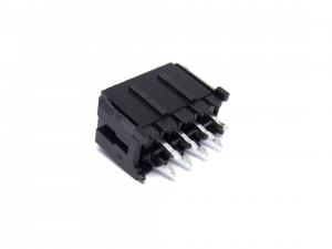 MCFPQ-08-CONECTOR MACHO 8 VIAS (2X4) 180 GRAUS 3MM