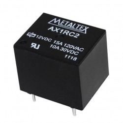 RELÉ MINI DE POT, 1 CONT REVER, AX1RC2 - 12V 15A