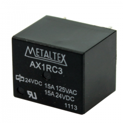 RELÉ MINI DE POT, 1 CONT REVER AX1RC3 - 24V 15A