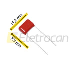 CAPACITOR POL MET. 22 N/250 V - 250V223 MARROM
